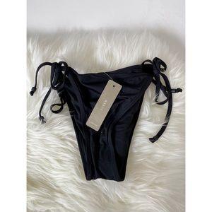 J. Crew Playa Miami String Bikini Bottom in Black